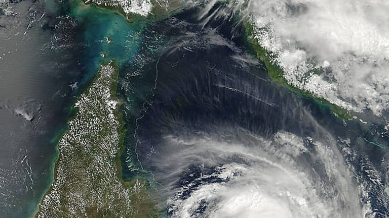Cyclone Nathan intensifies off the Queensland coast.