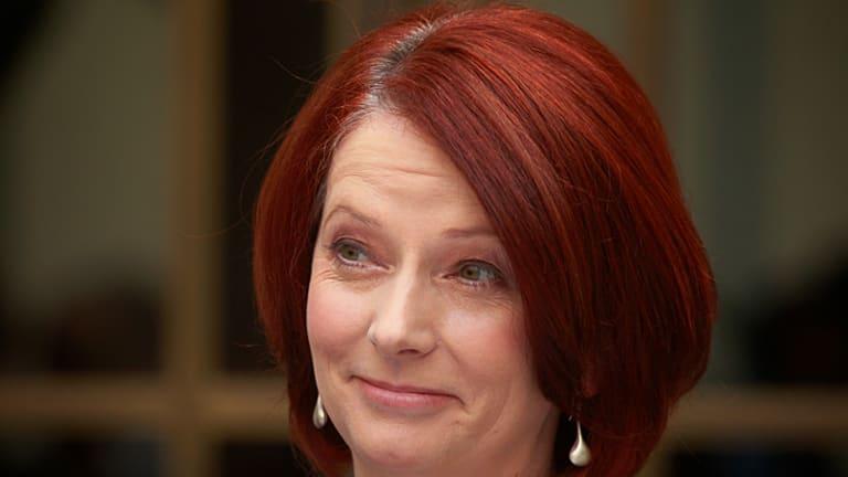 Done deal ... Prime Minister Julia Gillard.