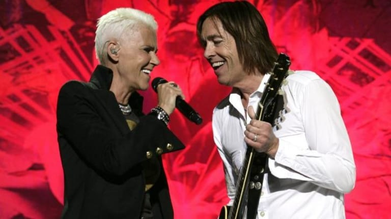 Dressed for success: Marie Fredriksson and Per Gessle of Roxette are still selling out arenas worldwide.