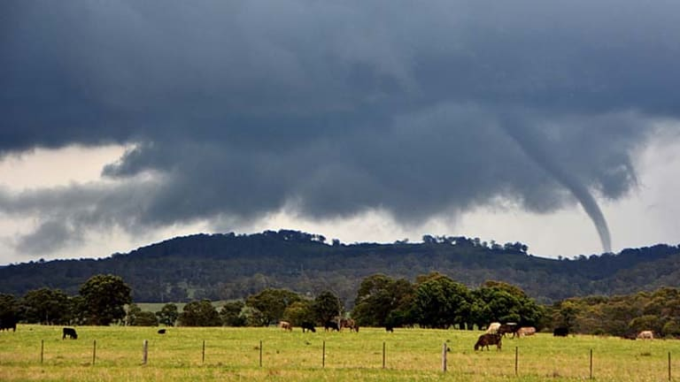 Tornado destroys house in New South Wales