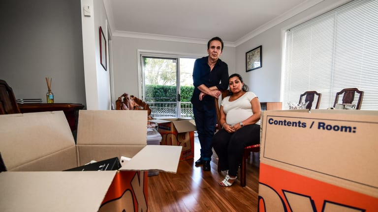 Jeremy Ducklin with his partner Nikoo is one of removalist Christopher Boyce's many victims. He paid $1300 last year to move from Queensland to NSW but the removalist never showed.