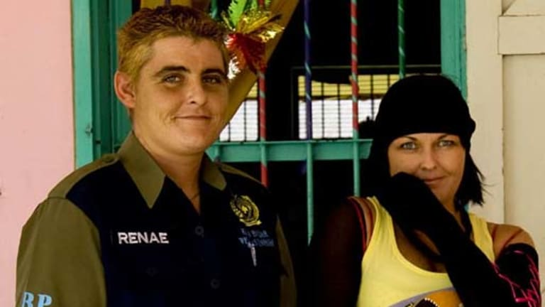 Jailed for 20 years ... Renae Lawrence, left, and Schapelle Corby have had their sentences cut.