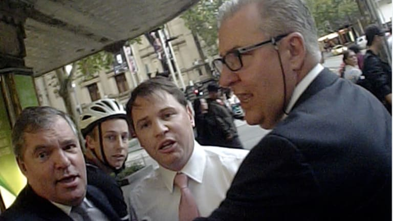 The three men involved in the incident.
