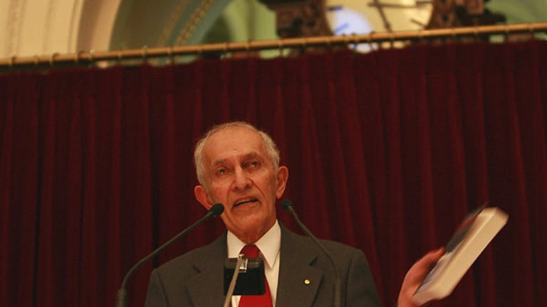 Governor of Victoria Professor David de Kretser at the launch.