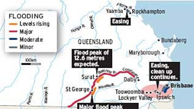 Flooding ... the expected water levels.