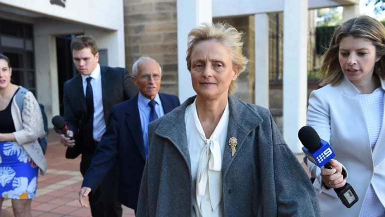 Naturopath Marilyn Bodnar leaves Campbelltown Local Court in May.