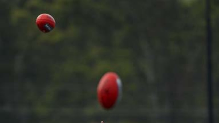 Up there, Izzy ... Greater Western Sydney's star recruit takes a mark at training.