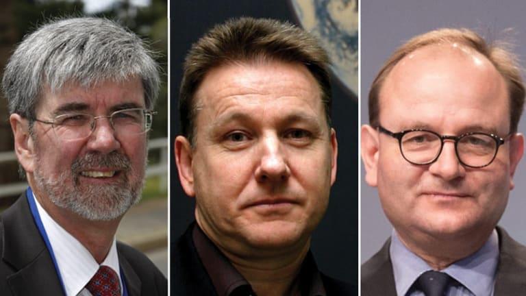 Climate Change experts: Dr John Church, Dr Scott Power and Professor Ottmar Edenhofer.