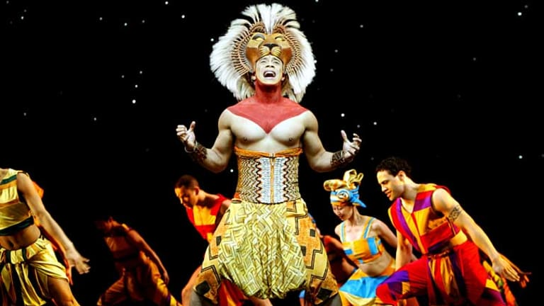 Full circle: Simba played by Vincent Harder in the 2003 Sydney production of The Lion King.