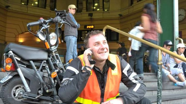 First fleet ... Yan Flageul enlisted a broker to obtain insurance for his business, Drivers on Scoot, the staff of which drive a variety of vehicles.