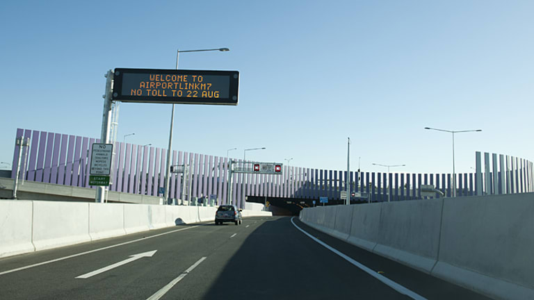 Brisbane's Airport Link tunnel opened overnight.