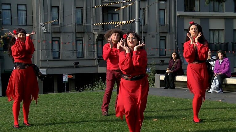 Kate Bush fans practice for the big day.