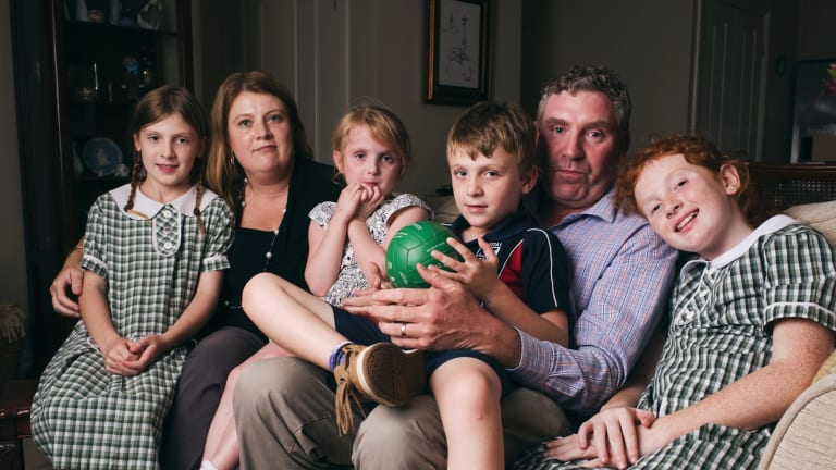 Kate and Hugh Daly with their six-year-old son Will and their three daughters. Will suffers from cytomegalovirus, or CMV.