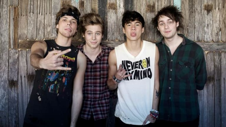 Five Seconds Of Summer: (left to right) Luke Hemmings, Ashton Irwin, Calum Hood and Michael Clifford.