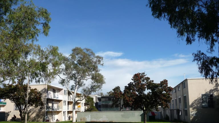 The Northbourne Avenue public housing flats are among the 11,500 ACT housing properties that racked up almost $3.5 million of damage to taxpayer-funded homes in 2014-15.