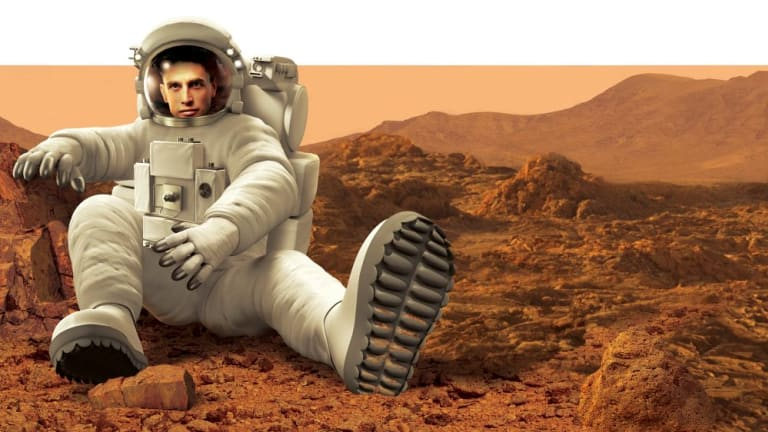 Giant leap for mankind: Mars One applicant Korum Ellis.