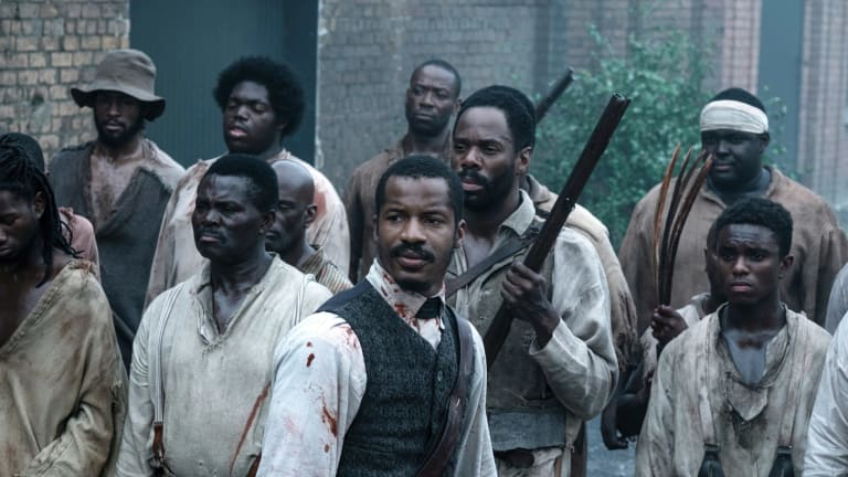 Nate Parker as Nat Turner, centre, in a scene from The Birth of a Nation.