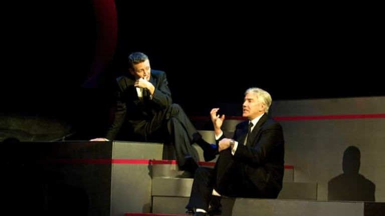 Shaun Micallef and Stephen Curry perform material by comic legends Dudley Moore and Peter Cook.