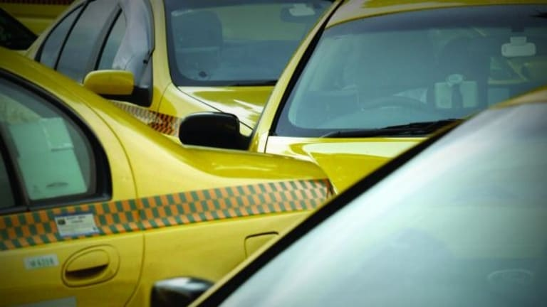 Taxi drivers are protesting at Melbourne Airport.