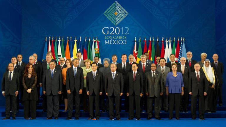 Heads of state at last year's G20 in Los Cabos, Mexico.