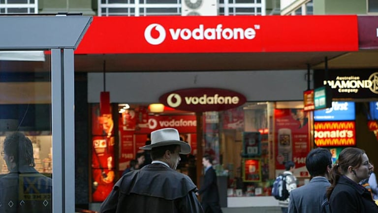 Upgrade on track … network problems cost Vodafone about 375,000 customers in the first half.