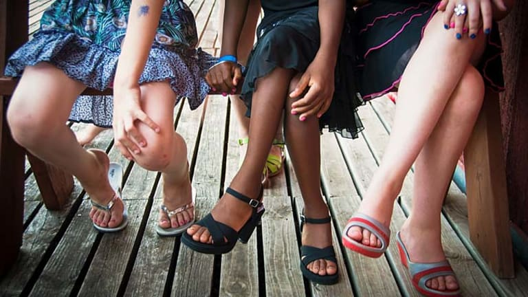 Free expression: Gender non-conforming children attending the camp.
