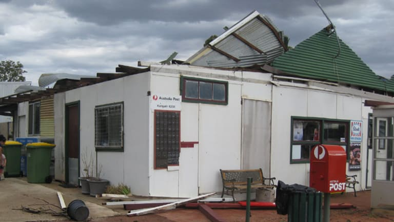 The community general store was hit by the storm.