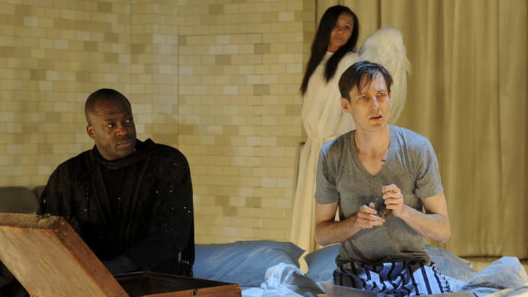 Drama on an operatic scale: (From left) DeObia Oparei, Paula Arundell and Luke Mullins.