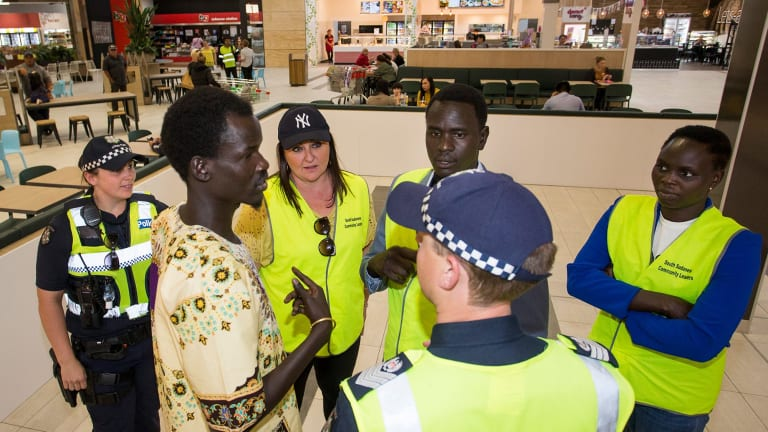 Police and African-Australian community leaders patrolled shopping centre in Melbourne as part of continued efforts to jointly address antisocial behaviour and youth offending.