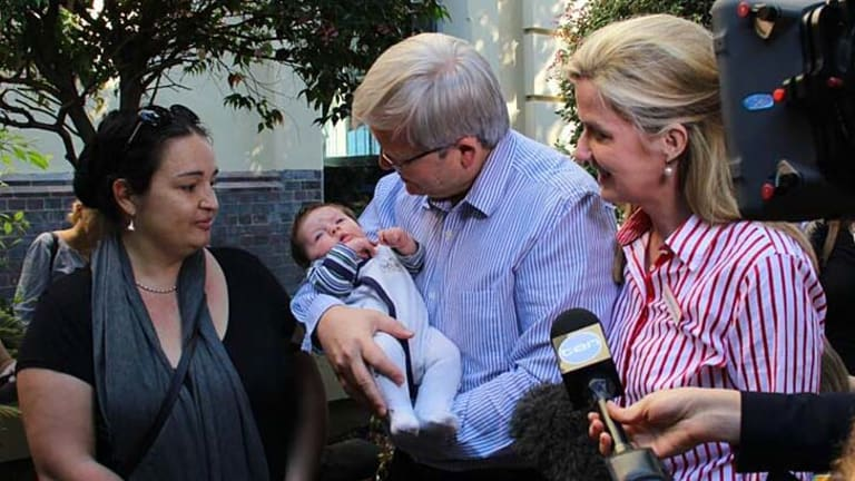 Aware: Kevin Rudd knows that the contentious cuts to single parent's welfare must be addressed.