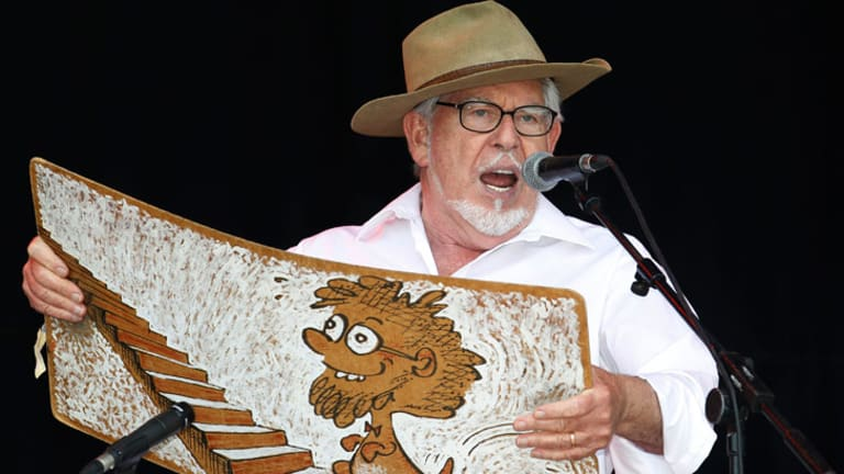 Australian singer Rolf Harris.