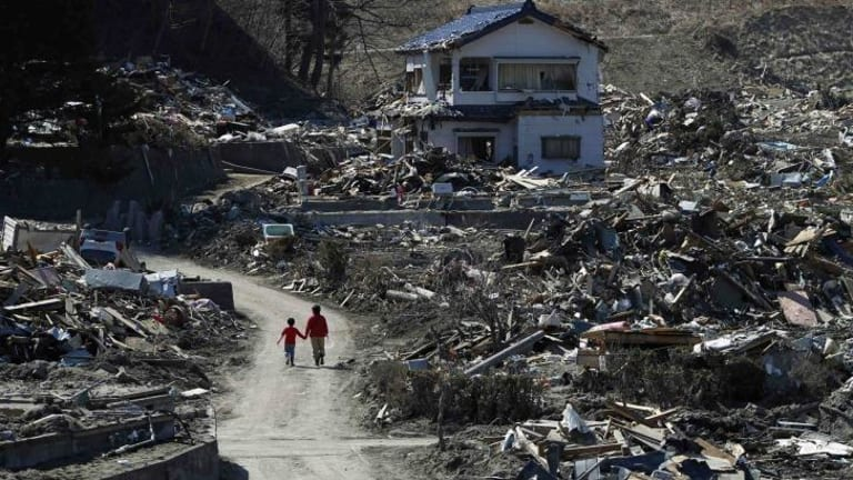 Aftermath: Miyako, in Iwate prefecture after the tsunami in March 2011.