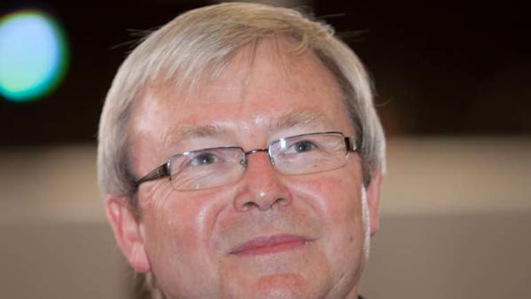Recovering 'well' ... Kevin Rudd.