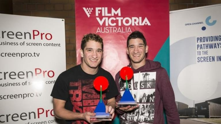 Gonged: Michael Philippou (left) and Danny Philippou, winners in the best overall category in the inaugural Australian Online Video Awards
