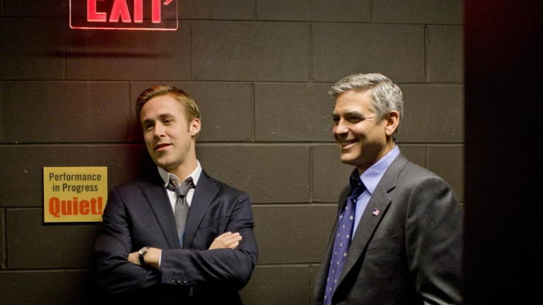Role model ... Ryan Gosling plays press secretary Stephen Meyers to George Clooney's Governor Mike Morris.