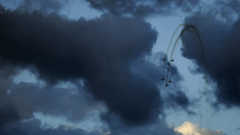The Roulettes take to the sky above Canberra for Skyfire 2012