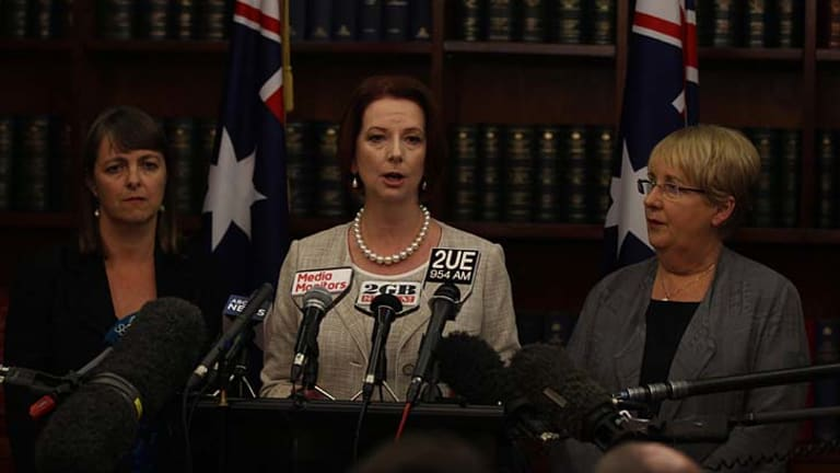 """Prime Minister Julia Gillard: """"I believe our nation needs to have this royal commission."""""""