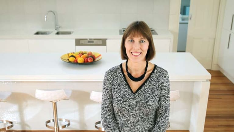 The project manager … Sally Gluyas in her new kitchen.