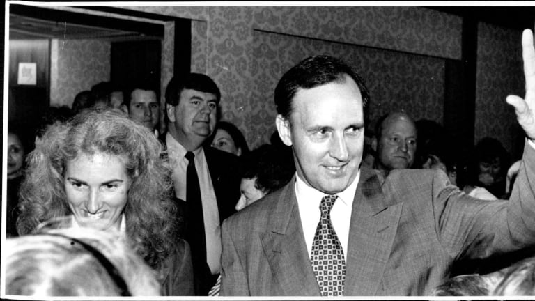 Paul and Anita Keating launching the 1994 International Year of the Family, at Bankstown Town Hall in 1983.