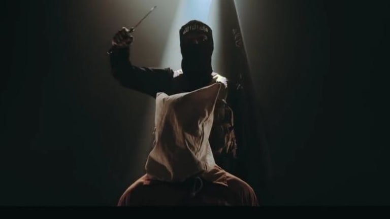 Still from official Thy Art Is Murder YouTube clip for 'Holy War'.