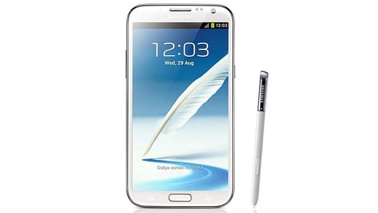 The Samsung Galaxy Note II.