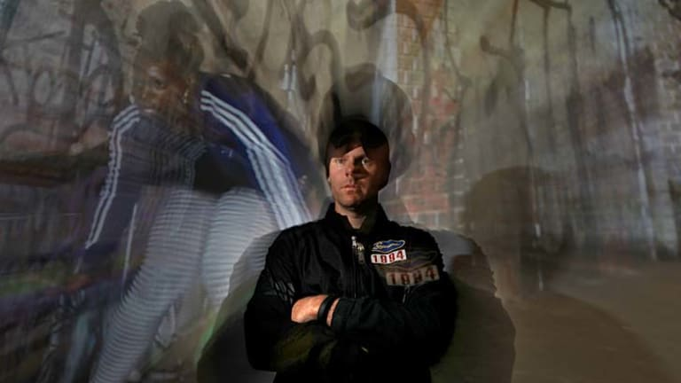 Moving art ... innovative video artist Shaun Gladwell in front of his video artwork Broken Dance (Beatboxed), which is on show this week.