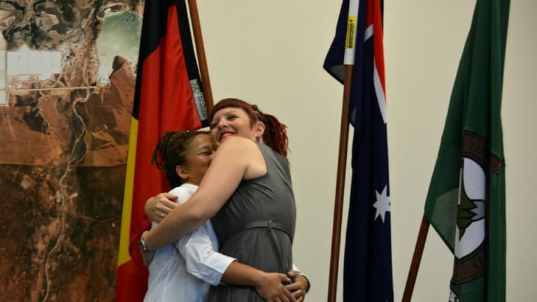 The pair declared their love for one another at the council chambers.