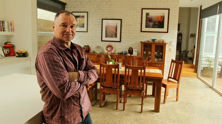 Thinking ahead: Ralph Nicholson at his home in Williamstown.