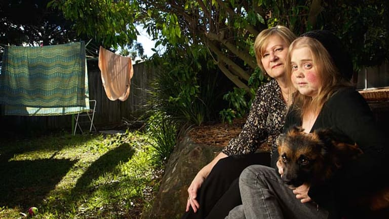 Kylie Polglase with her mother Rosemary and her dog Toby. ''Everybody dies [yet] every time I talk about it, I am treated as if I am being negative.''