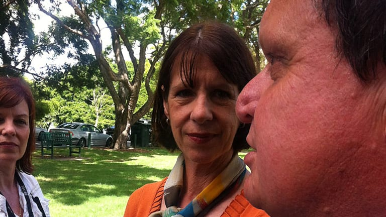 Heather Beattie with Labor's defeated mayoral candidate Ray Smith.