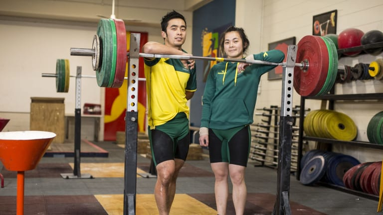 Sister and brother Socheata and Vannara Be, who were born in Cambodia but will represent Australia at the Commonwealth Games at weightlifting.