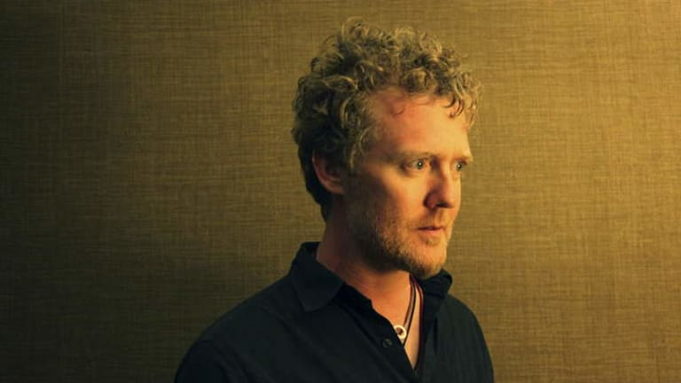 Famous yet frugal: Glen Hansard keeps a needle and thread at hand.