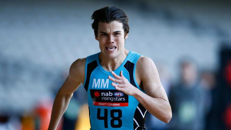 AFL draft prospect Jack Bowes.