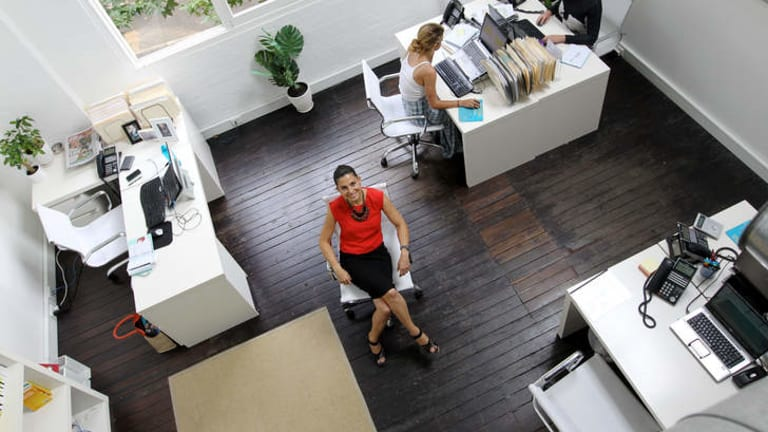 No closed shop: Sharon Zeev Poole, in her Surry Hills office, is a firm believer in open plan work spaces.